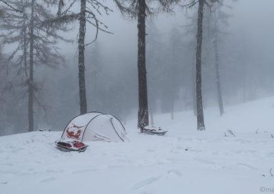 On se réveille sous la neige le matin