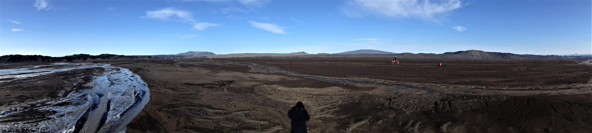 Islande à vélo | Traversée de l'outwash de Holuhraun et de la Gaesavatnaleid