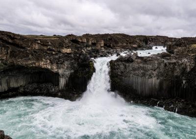 Islande à vélo Aldeyjarfoss