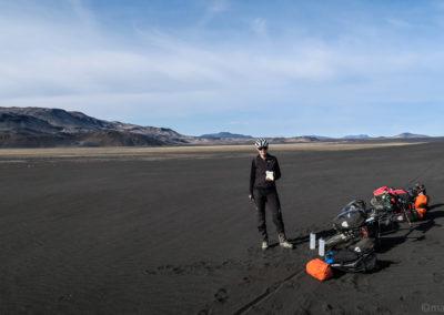 Askja à vélo sur la F910 12 km de sable