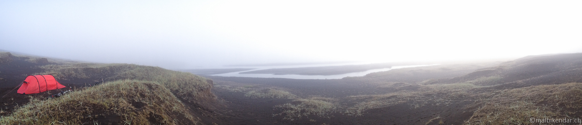 A vélo en islande, le Camp du Brouillard