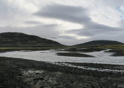 Islande à vélo le gué de Nyidalur