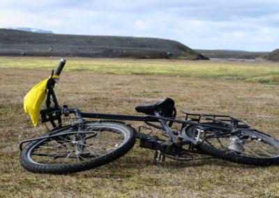 Sprengisandur à vélo séchage du matos à Nyidalur
