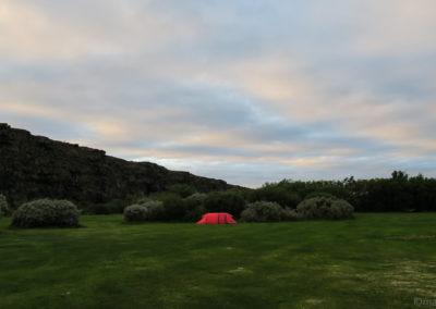 Parfait pour les cyclistes, Asbyrgi, un des plus beaux campings de l'Islande