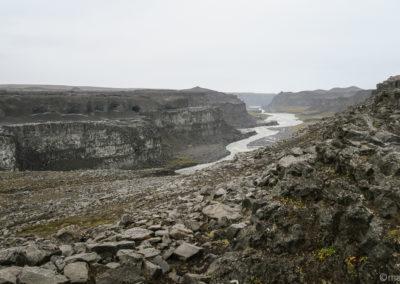 Canyon de Jökulsa à Fjöllum près de Dettifoss