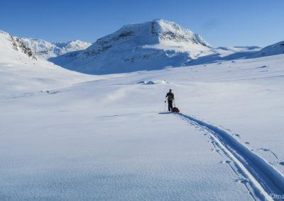 La belle vallée de Vassevaggi en Laponie suédoise