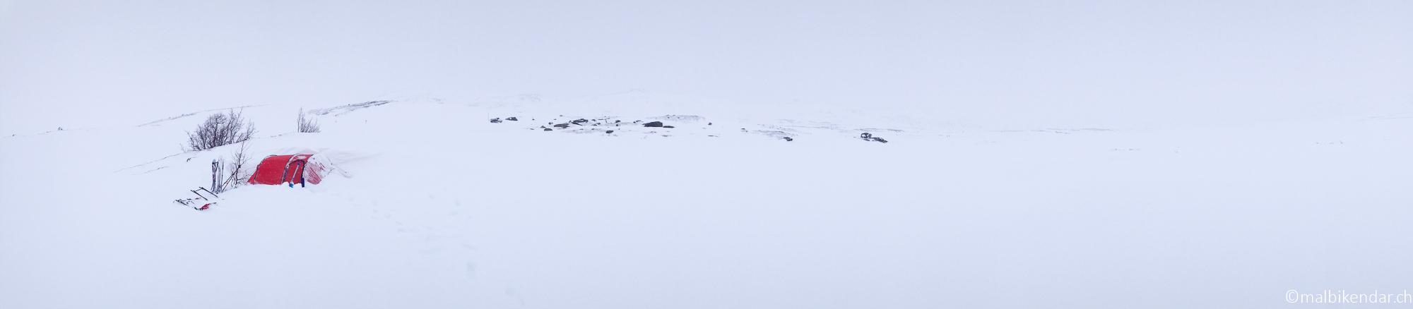 Kungsleden notre Camp de la neige