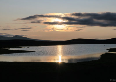 Coucher de soleil à Gaesavötn
