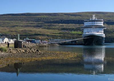 Dans le port d'Akureyri