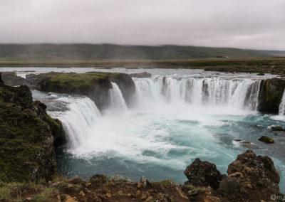 Islande à vélo pause à Godafoss