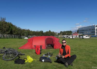 Islande à vélo - le camping d'Akureyri