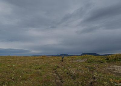 Randonnée à Asbyrgi, pour le retour on suit le canyon de Jökulsa