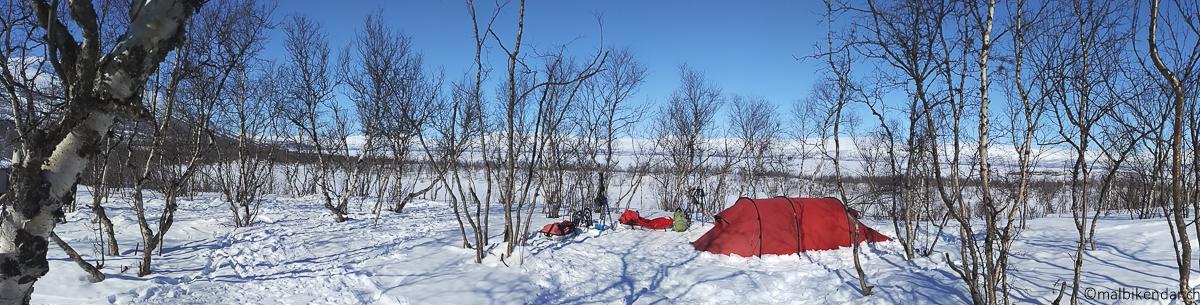 Au camping d'Abisko en avril