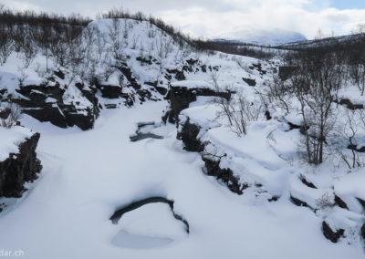 Les gorges près du STF à Abisko