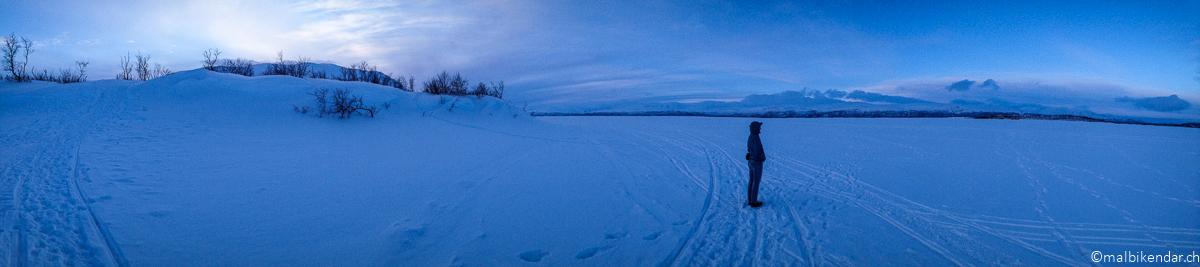 Premières impressions au lac Torneträsk à Abisko