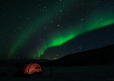 Aurore boréale en Laponie suédoise