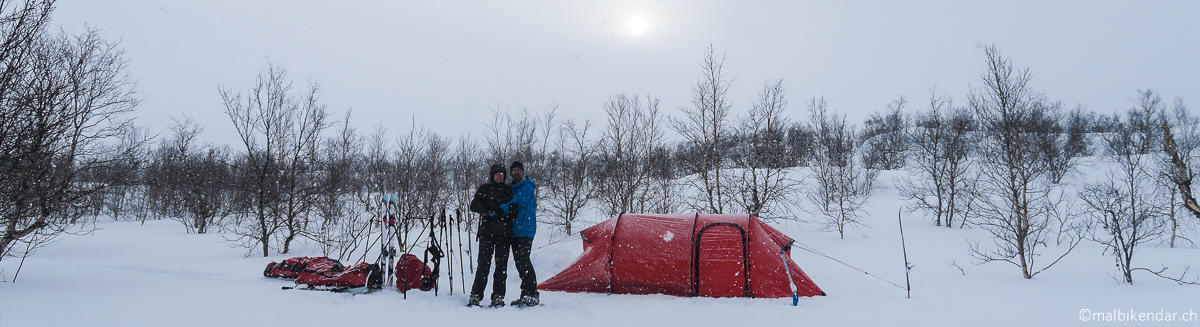 Camp du Silence en Laponie suédoise