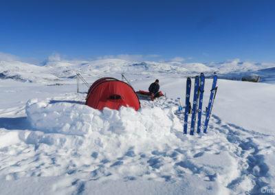 Camp en Laponie suédoise