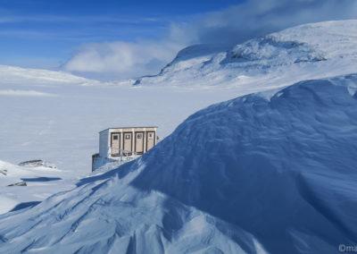 Les toilettes d'Alesjaure, rustiques mais avec une belle vue