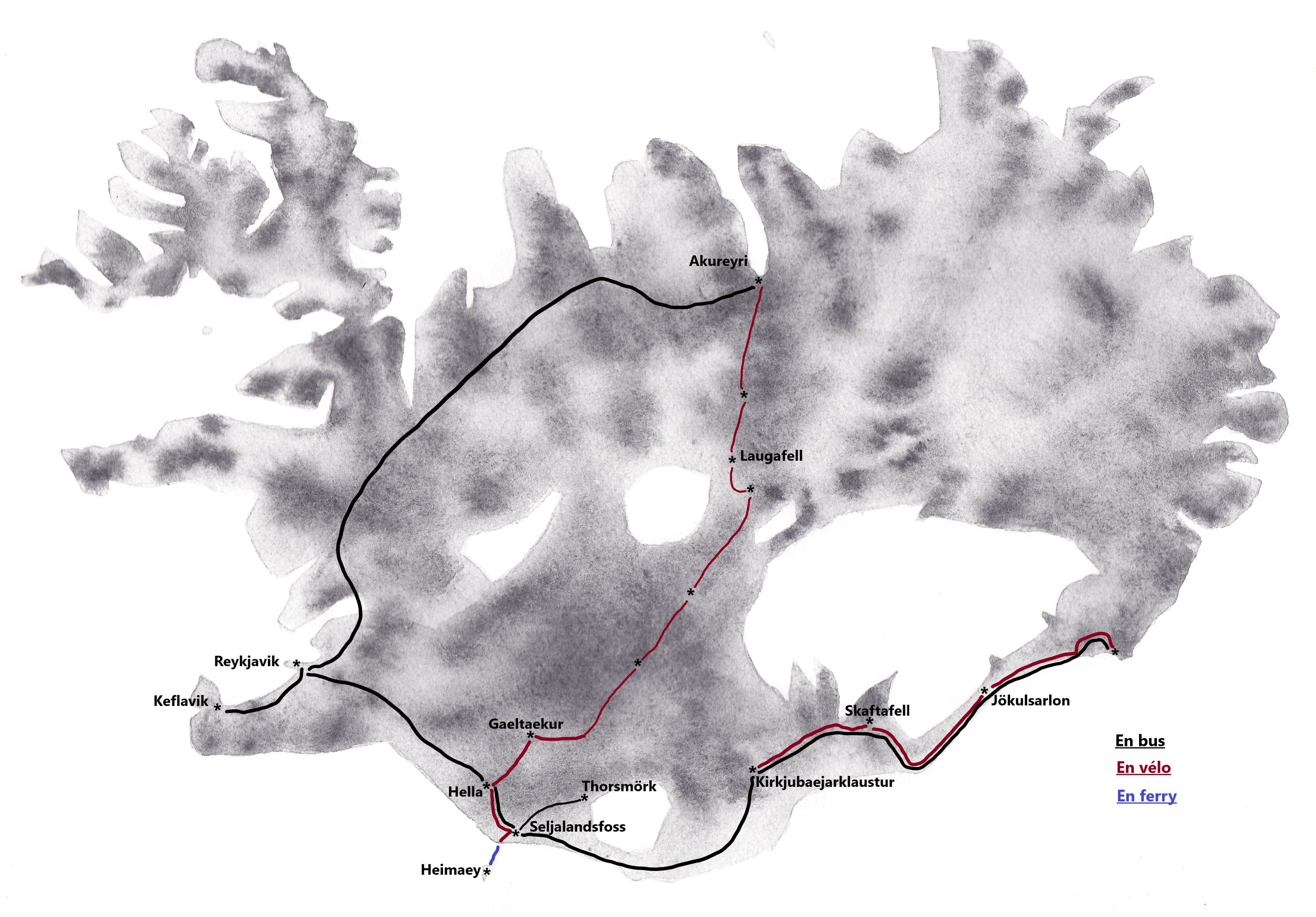 Voyage vélo en Islande 2014