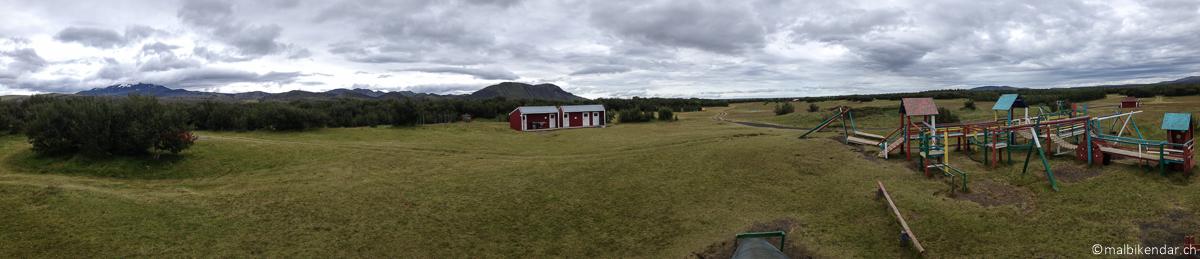Voyage vélo en Islande - le camping à Gaeltaekur