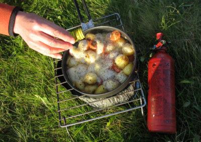 Raclette islandaise - nourriture pour cyclo-nomades