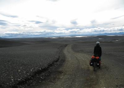 Voyage vélo en Islande Piste F26, la Sprengisandur