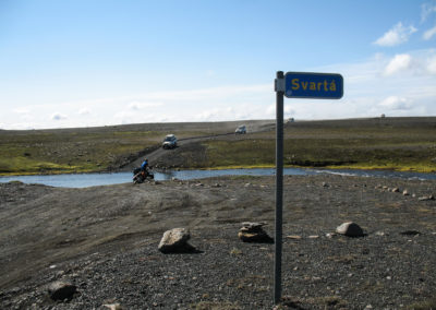 Voyage vélo en Islande Piste F26 - beaucoup de trafic