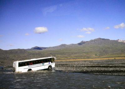Voyage vélo en Islande Thorsmörk - le gué Krossa