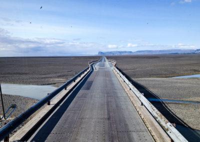 Voyage vélo en Islande - pont à une voie sur la Ring Road