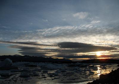 Voyage vélo en Islande un peu avant Fjallsarlon