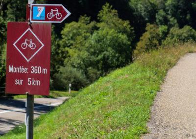 Jura à vélo - col de la croix