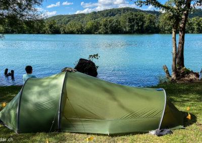 Route du Rhin - camping de Kaiseraugst